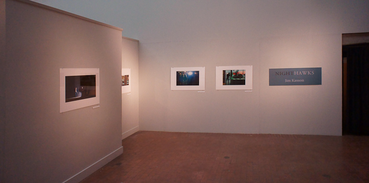 Some pictures of the gallery during hanging