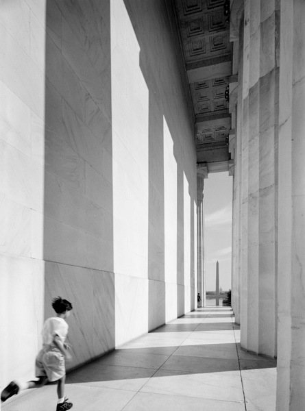Tag, Lincoln Memorial, Washington, DC, 1990