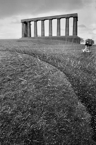 Hailstorm, National Monument (to the Napoleonic Dead), Edinburgh