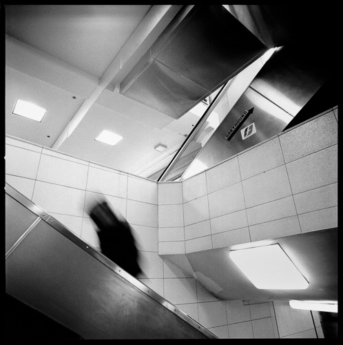 Escalator, Muni Bus Terminal, San Francisco, 1991