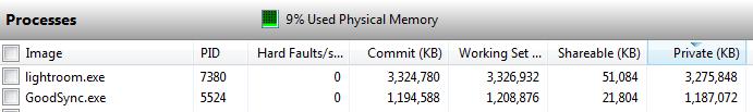 Lightroom memory use vs file size