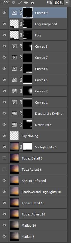 Tweaking the slit-scan sunset image