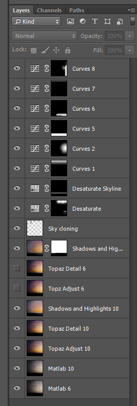 sunset layers