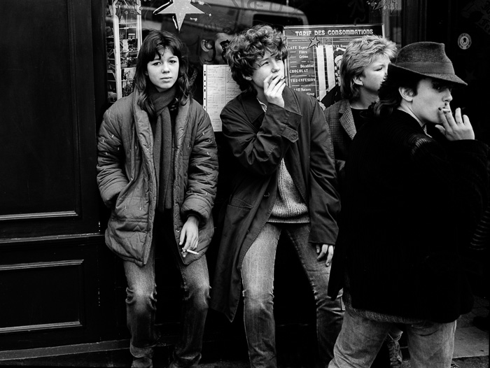 Smoking Teenagers, Paris, 1982