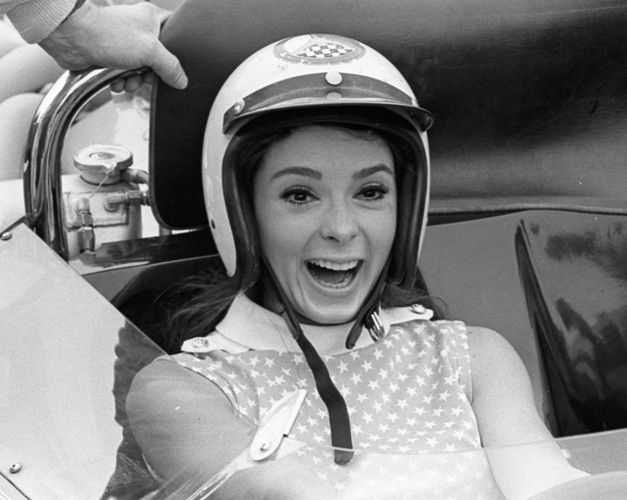 Race Queen in Mark Donohue's car
