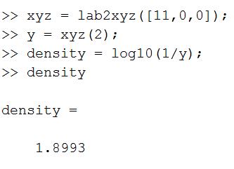 gracol density