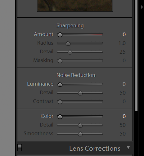 Lr noise reduction nulled out