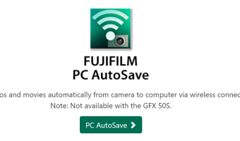 Fujifilm GFX PC AutoSave not yet available